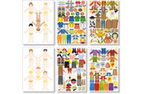6 Planches de stickers garçons - Gommettes fantaisie - 10doigts.fr