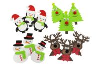 Stickers de Noël en caoutchouc souple - 12 pièces - Stickers de fêtes - 10doigts.fr