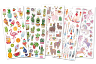 Stickers tendances avec effets pailletés - Stickers divers - 10doigts.fr