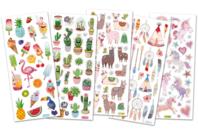 Stickers Tendance -  129 stickers pailletés - Stickers Fantaisies - 10doigts.fr