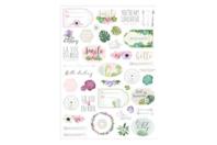 Stickers La vie en rose - 78 pièces - Gommettes fantaisie - 10doigts.fr