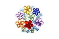 Strass fleurs - 200 strass - Strass - 10doigts.fr