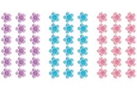 Bande de strass adhésifs fleurs - 225 strass - Stickers strass, cabochons - 10doigts.fr