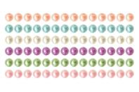 Bandes de cabochons nacrés adhésifs - 288 strass - Stickers strass, cabochons - 10doigts.fr