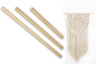 Baguettes de suspension pour macramé - Set de 3 - Outils et accessoires - 10doigts.fr