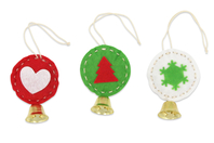 Kit création boules clochette en feutrine - Set de 6 - Kits et Activités de Noël - 10doigts.fr