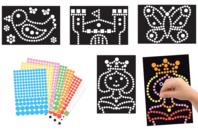 Tableaux gommettes - Set de 4 tableaux - Kits activités carteries - 10doigts.fr