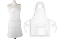 Tablier en coton avec poche - Coton, lin - 10doigts.fr