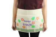 Demi-tablier en coton pour artistes - Support textile à customiser - 10doigts.fr