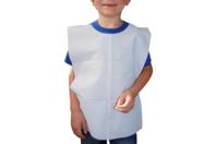 Tabliers bavoirs en papier plastifié jetable - Nettoyage et Protection - 10doigts.fr