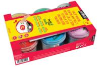 Peinture aux doigts pour tissu TACTIL COLOR - 6 couleurs nacrées - Peinture textile - 10doigts.fr