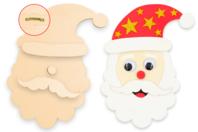 Tête de Père-Noël en bois à décorer - Noël - 10doigts.fr