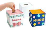 Tirelires en carton blanc - Lot de 12 - Boîtes en carton - 10doigts.fr