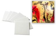 Cartons entoilés carrés - Cartons toilés - 10doigts.fr