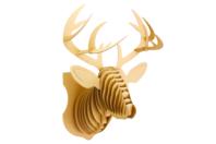 Trophée tête de cerf à construire - Objets décoratifs en carton - 10doigts.fr