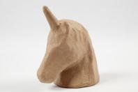 Trophée licorne en papier mâché - Animaux - 10doigts.fr