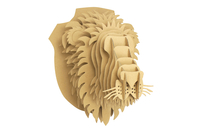 Trophée lion en carton à assembler - Objets décoratifs en carton - 10doigts.fr