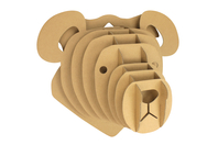 Trophée ours carton à assembler - Maquettes en carton - 10doigts.fr