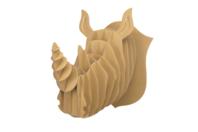 Trophée rhinocéros en carton à assembler - Objets décoratifs en carton - 10doigts.fr