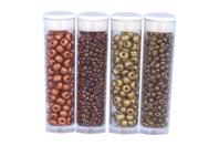 Tubes de rocailles Cuivre et Or - Set de 4 - Perles de rocaille - 10doigts.fr