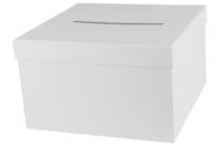 Urne carrée en carton blanc - Boîtes - 10doigts.fr