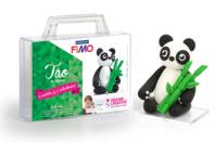 Kit à modeler Fimo - Tao le panda - Fimo Soft - 10doigts.fr
