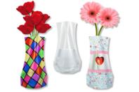 Vase souple à décorer - Plastique Transparent - 10doigts.fr