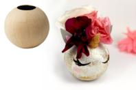 Vase en papier mâché Ø11 cm - Pots, vases, paniers, sacs - 10doigts.fr