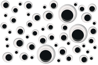Yeux mobiles noirs à coller - Dimensions au choix - Yeux mobiles - 10doigts.fr