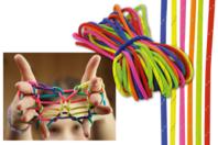 """Jeu de ficelle - 6 cordes couleurs """"SHINY"""" - Jeu de ficelle - 10doigts.fr"""