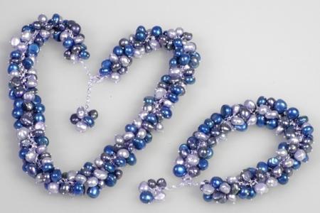 Bracelet et collier de perles métal - Perles, bracelets, colliers - 10doigts.fr