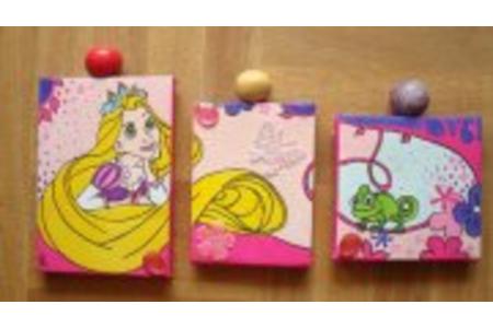 tryptique Princesse Raiponce  - Peinture - 10doigts.fr