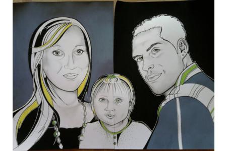 portrait - Peinture - 10doigts.fr