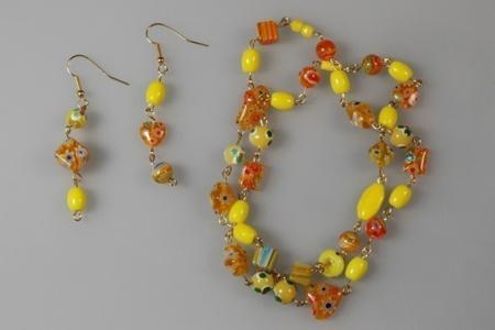 Bracelet et boucles d'oreilles - Perles, bracelets, colliers - 10doigts.fr
