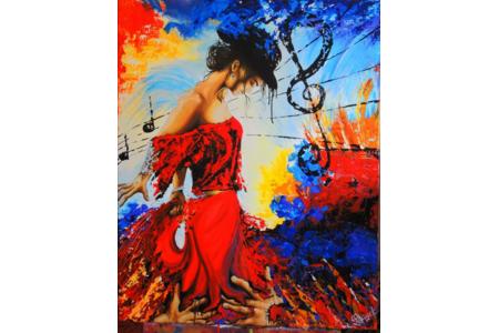 La cariatide - Peinture - 10doigts.fr