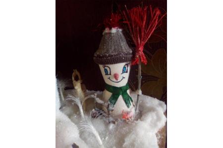 Bonhomme de neige en petit pot têrre cuite - Pâques, Noël - 10doigts.fr