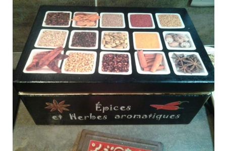 Boîte de rangement pour épices - Déco du bois - 10doigts.fr
