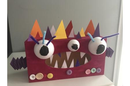 Boîte monstrueuse Halloween - Créations d'enfant - 10doigts.fr