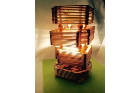 Lampe d'ambiance en bâtonnets de glace - Home Déco, Châssis - 10doigts.fr