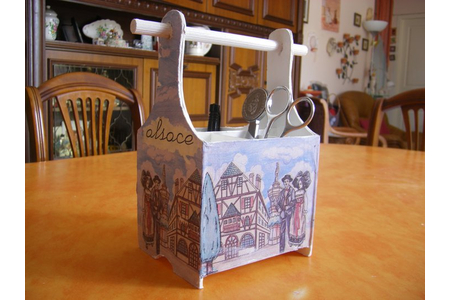 Porte Crayons /Cartonnage - Divers - 10doigts.fr