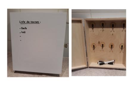 Boîte à clés camouflée - Déco du bois - 10doigts.fr