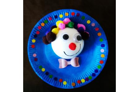 Notre clown rigolo - Créations d'enfant - 10doigts.fr