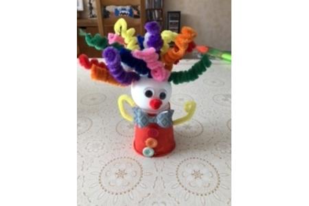 Clown du carnaval - Créations d'enfant - 10doigts.fr