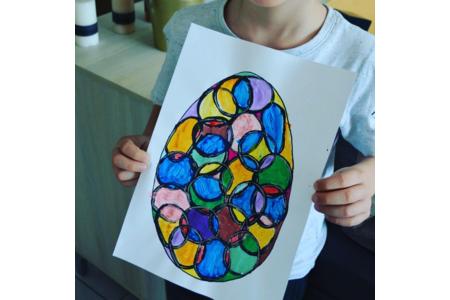 Œufs de Pâques - Peinture - 10doigts.fr