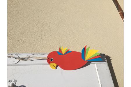 Perroquet en papier - Créations d'enfant - 10doigts.fr
