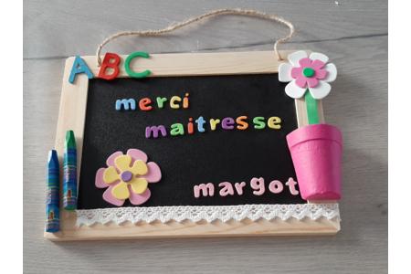 Ardoise merci maitresse - Cadres - 10doigts.fr