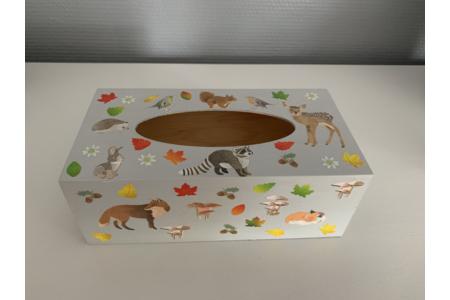 Boîte à mouchoirs - Déco du bois - 10doigts.fr