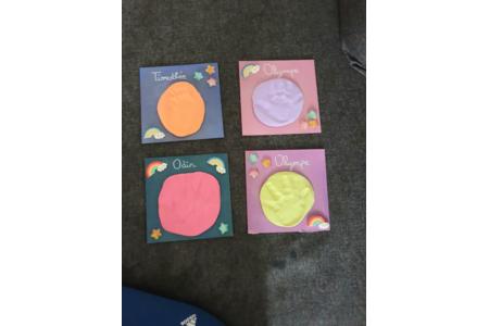 Tableau empreintes bébé - Créations d'enfant - 10doigts.fr