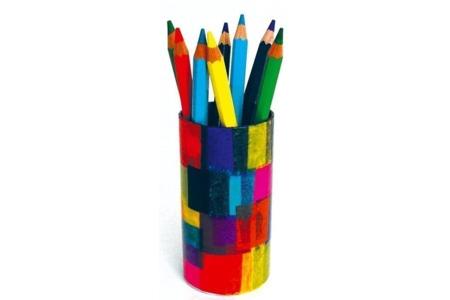 Pot à crayons - Vernis collage papiers, serviettes - 10doigts.fr