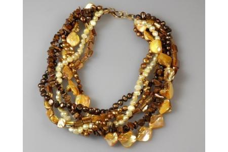 Collier de fête - Perles, bracelets, colliers - 10doigts.fr